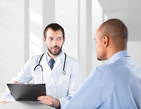 stethoscope exam: Doctor.