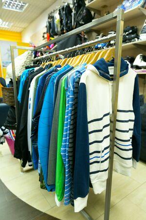 hanging: Clothing. Stock Photo