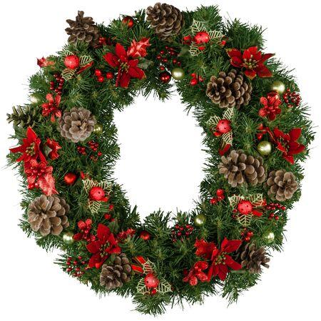 christmas decor: Wreath. Stock Photo