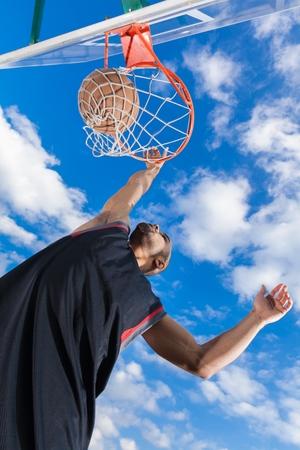layup: Basketball. Stock Photo