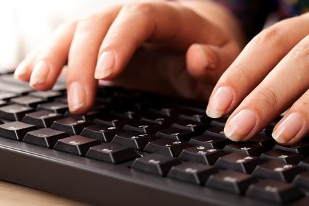 Clavier d'ordinateur.