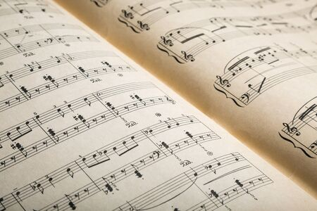 sheet music: Sheet Music. Stock Photo