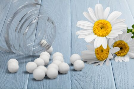 homeopathic: Homeopathic Medicine. Stock Photo