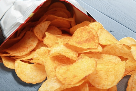 russet potato: Chip. Stock Photo
