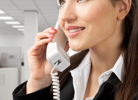 hotel receptionist: Telephone.