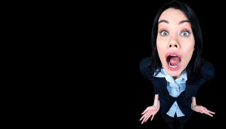 distorted image: Fear. Stock Photo