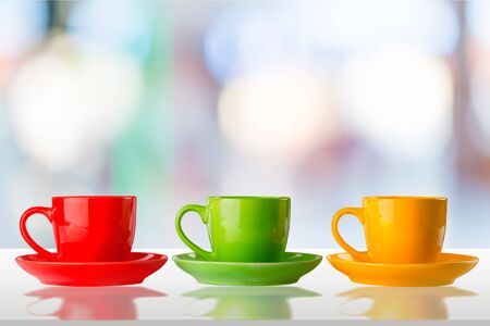 three objects: Coffee Cup. Stock Photo