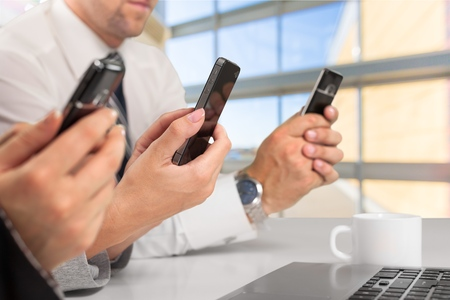 telecommuting: Mobile Phone. Stock Photo