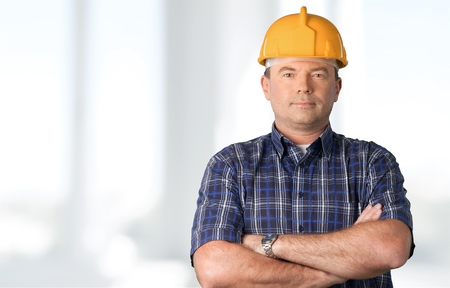 framer: Carpenter. Stock Photo