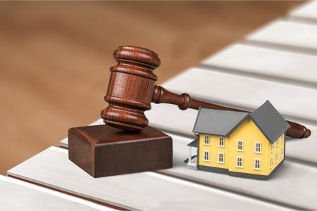 house exchange: Auction. Stock Photo