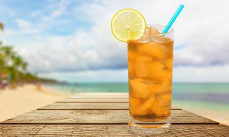 ice lemon tea: Drink. Stock Photo