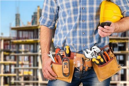 construction site: Man.