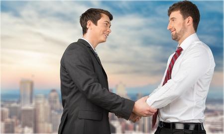 pakistani ethnicity: Handshake. Stock Photo