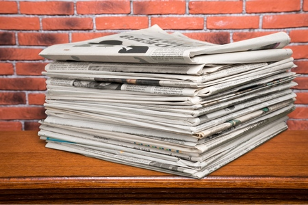 broadsheet: Newspaper. Stock Photo