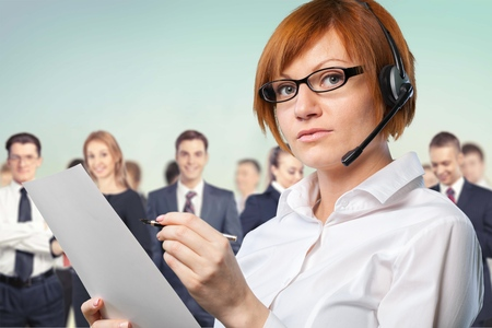 handsfree device: Call Center.