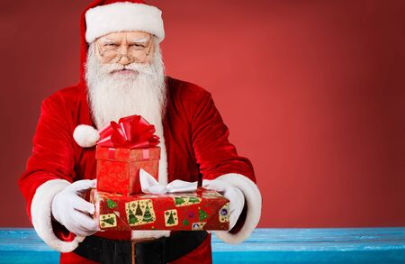 only one senior adult man: Santa Claus. Stock Photo