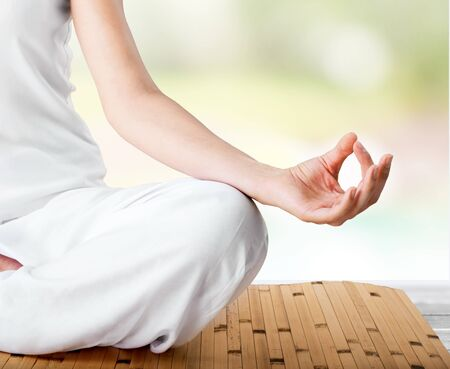 body conscious: Yoga. Stock Photo