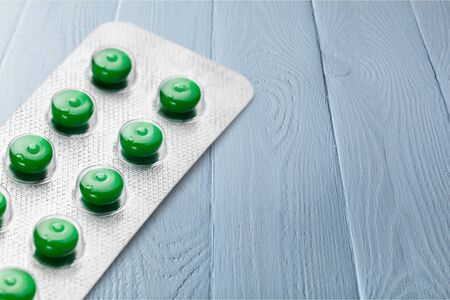ailing: Pill. Stock Photo