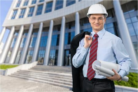 executive helmet: Manual Worker. Stock Photo