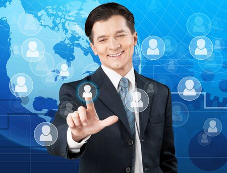 employing: Human. Stock Photo