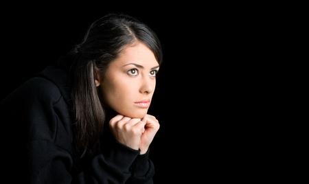 hispanic woman: Teenager.