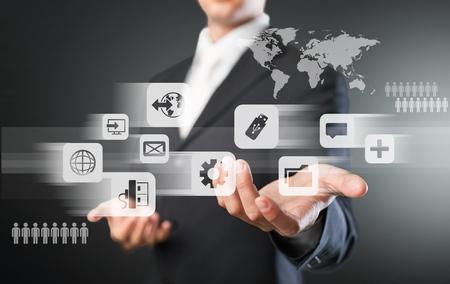 world security: Icon. Stock Photo