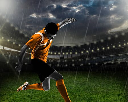 soccer player: Player. Stock Photo