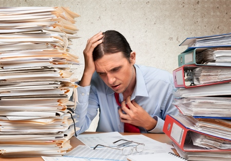 office physical pressure paper: Paperwork.