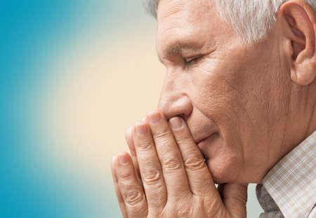 worshipper: Praying. Stock Photo