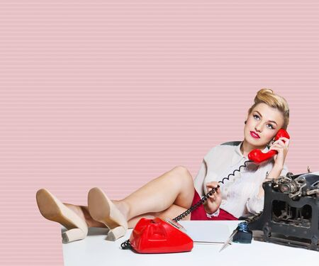 old fashioned rotary phone: Humour.