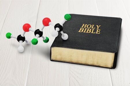 creationism: Science. Stock Photo