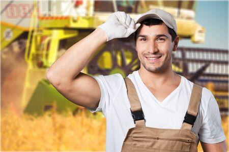 combine: Combine Harvester. Stock Photo