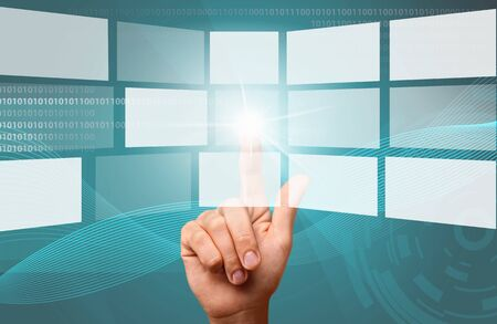 sky cloud: Cloud Computing. Stock Photo
