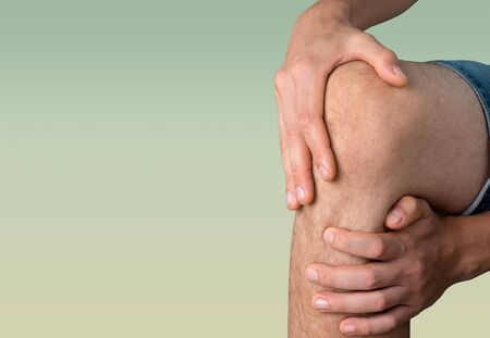 tortured body: Human Knee. Stock Photo