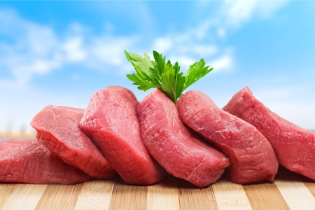 butchered: Meat.