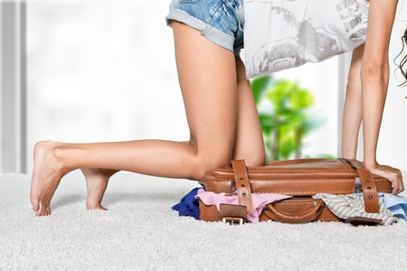 overloaded: Bag. Stock Photo