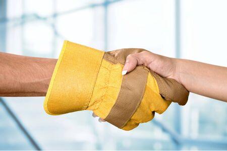 class maintenance: Handshake. Stock Photo