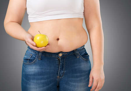 unhealthy living: Fat. Stock Photo
