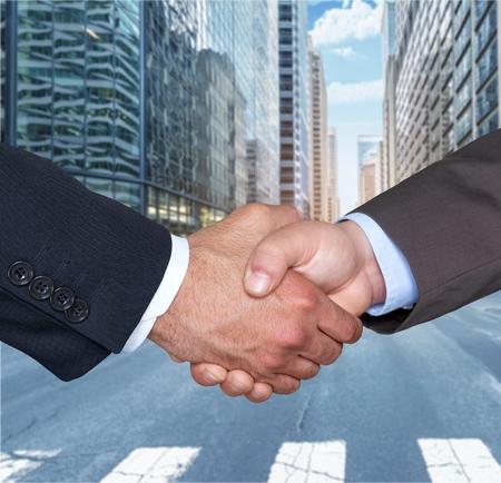 mature business: Handshake. Stock Photo