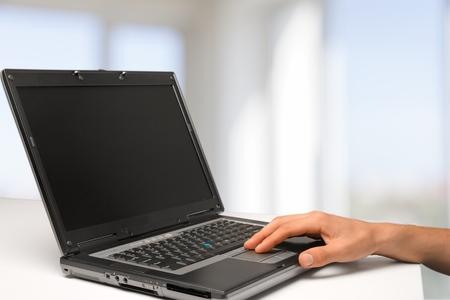 upperdeck view: Laptop. Stock Photo