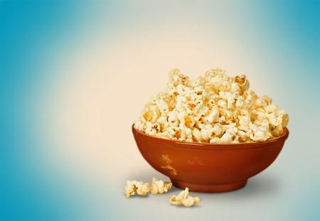 bowl of popcorn: Popcorn.