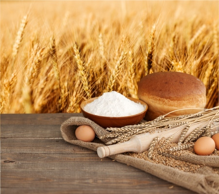 grain fields: Wheat.