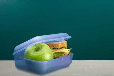 children eating: Lunch Box. Stock Photo