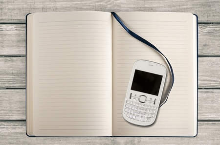 five objects: Mobile Phone. Stock Photo