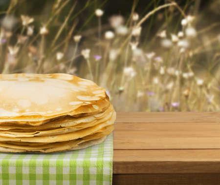 healthy snack: Crepe. Stock Photo