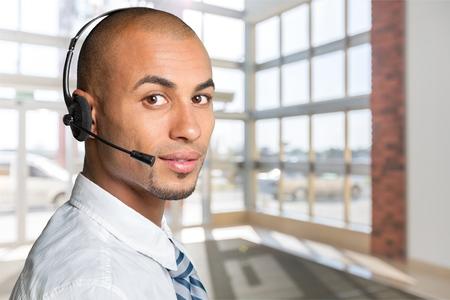 customer service representative: Customer Service Representative. Stock Photo