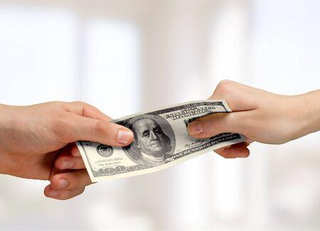 Dollar Opmerking Stockfoto