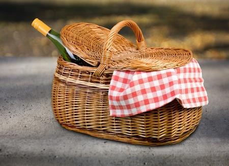 wicker basket: Picnic Basket.