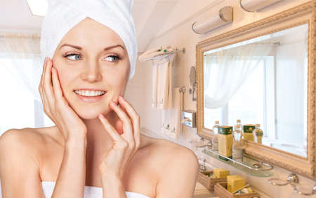 handbasin: Skin. Stock Photo