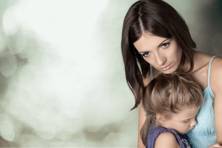 consoling: Child.